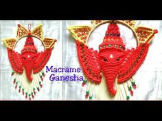 Hi it's Macrame Creation . Here in this video i am share with you NEW design Macrame Ganesha ji / GANPATI making tutorial . How To Make Earrings, Diy Earrings, Crochet Earrings, Vintage Earrings, Macrame Design, Macrame Art, K Crafts, Indian Paintings, Art Paintings
