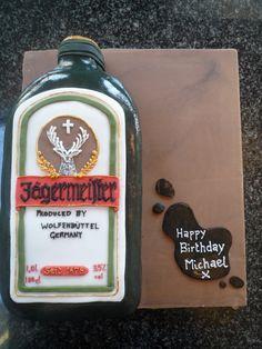 Jagermeister Birthday Cake.