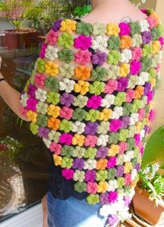 crochet flowers - want to make this as a scarf