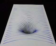 Teenage Artist Warps Notebook Paper into 3D Drawings   The Creators Project