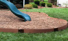 Playground Borders - Keep kids safe Wood Playground, Playground Safety, Playground Flooring, Backyard Playground, Natural Playground, Playground Ideas, Landscape Edging, Raised Garden Beds, Indoor Garden