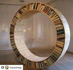 62 отметок «Нравится», 2 комментариев — Wood Talks (@woodtalkers) в Instagram: «Here's another bookcase for all you #booklovers ❤️ Source: @mywworg»