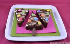 Alberi di Natale brownies