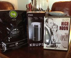 Krups 203 Electric Coffee and Spice Grinder with Stainless-Steel Blades.