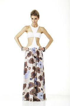 Skye Harte Angelina Retro Maxi Dress $499.00 - Skye Harte