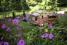 Vintage Camper vogelhuisje. Schaal model playset u kunt bouwen