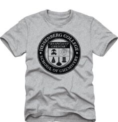 Breaking Bad Heisenberg College School of Chemistry Adult T-Shirt - http://bandshirts.org/product/breaking-bad-heisenberg-college-school-of-chemistry-adult-t-shirt/