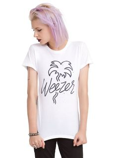 Weezer Palm Tree Girls T-Shirt, WHITE
