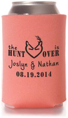 HuntingOutdoors Wedding Can Coolers