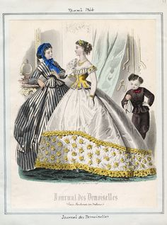 March fashions, 1866 France, Journal des Demoiselles