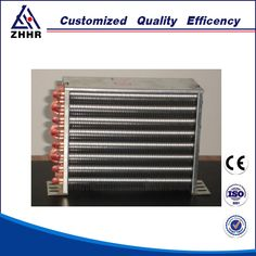 High Performance Copper Fin Tube Radiator Condenser For Air Conditioner