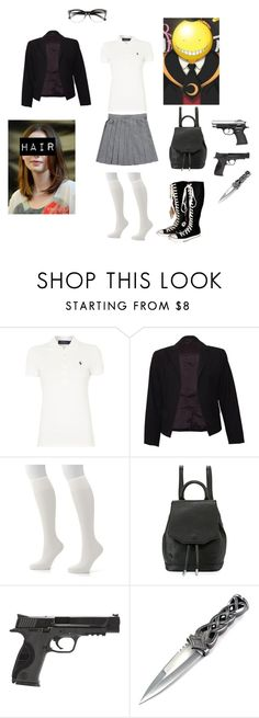 """""""Assassination Classroom Oc"""" by janellealvarado ❤ liked on Polyvore featuring Polo Ralph Lauren, Theory, Hanes, Converse, rag & bone, Smith & Wesson and Bobbi Brown Cosmetics"""