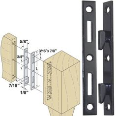 """Woodtek 164222, Hardware, Furniture, Bed Hardware, 6"""" Bed Rail Fasteners-Black Ed, Package Of 4 Pair by Woodtek. $12.99. Easy to install. Hook fasteners make assembly of wooden bed frames simple and solid: 1/8"""" thick bed rail fasteners mortise in to posts and rails for rigid mounting of rails to posts. Hooks are securely swaged into brackets for strength. Select 5"""" or 6"""" length to best match your project. Sold in sets of 4 pairs - enough for one complete bed. Use #8 sc..."""