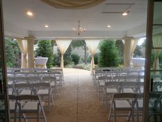 Ceremony on Patio - Magnolia Terrace
