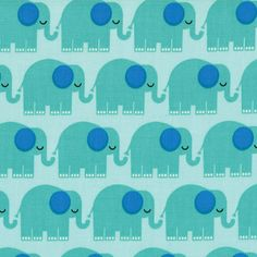 Elephants in Aqua, Bungle Jungle by Tim and Beck for Moda Fabrics, One Yard, 1 Yard. $9.00, via Etsy.