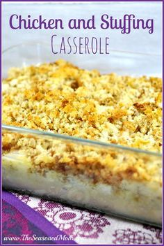 This easy chicken casserole recipe makes for a great warm and filling meal on cool autumn or winter days. Everyone will love the classic flavors in this Comforting Chicken and Stuffing Casserole. This casserole only requires six ingredients.
