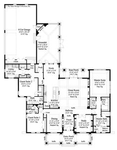 Attractive Home Plan Prairie Pine Court Has 3108 Sq. Of Living Area, 3 Bedrooms And 3  Baths. This Plan Is A Modern Adaptation Of Frank Lloyd Wrightu0026 Home Designs.