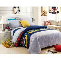 4-piece luxury cotton bedding sets Preppy Style