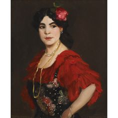 """Manolita Marequis,"" Robert Henri, 1908, oil on canvas, 31 7/8 x 26 1/4"", private collection."