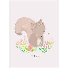 Affiche Ecureuil (A4 : 21 x 29,7 cm) - Petite Louise