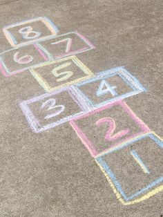 Hop scotch.  How simple life was then.