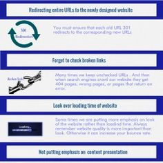 Usually we do some mistake during our website redesign which can effect our website health and Seo also. We should focused on this mistake during the