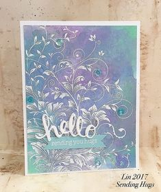 I was able to grab 3 Distress Oxide inks from a local scrapbook store and had a little play with them.  Here's my first card: supplie...