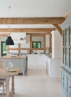 Exposed beam country kitchen
