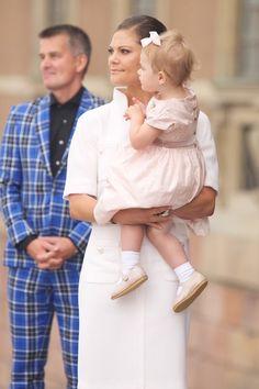 Crown Princess Victoria of Sweden and Princess Estelle of Sweden attend the City Of Stockholm Celebrations during King Carl Gustaf's 40th Ju...