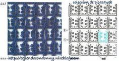 PATRONES - CROCHET - GANCHILLO - GRAFICOS: TEJIDO A CROCHET O GANCHILLO = PUNTOS Y SUS GRAFICOS =de PICASAWEB