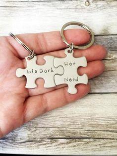 His Dork Her Nerd Keychains Couples Gift Idea Anniversary
