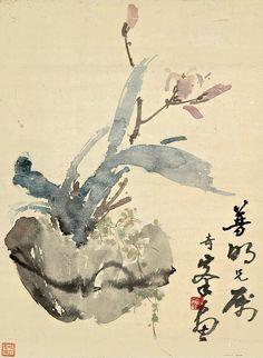 高奇峰 / Gao Qifeng (1889 — 1935, China) Orchid. - ink and colour on paper