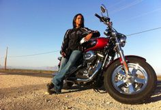 This undated image released by Harley-Davidson shows Roshani Dubel, 33, an eighth-grade math teacher and mother of three in Gilbert, Ariz. D...