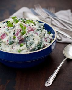 Mashed potatoes with kale and garlic