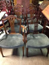Mahogany Dining Chairs, Set of 8, Federal Hepplewhite Style