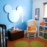Make the Mickey head proud of the wall with lights behind for a night light.