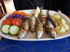 The most colorful plate of food in Sagres, Portugal.