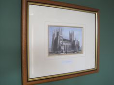 Walnut gold frame-print-Canterbury Cathedral Decor, Canterbury, Frame, Home Decor, Gold Frame, Canterbury Cathedral, Framed Prints