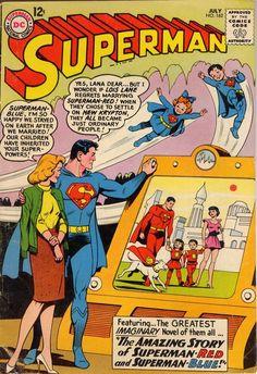 Superman n°162, July 1963, cover by Kurt Schaffenberger .