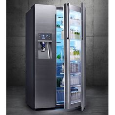This is Kitchen Porn. Samsung Food Showcase refrigerator - Samsung rolls out big appliance update for CES 2014 (pictures) Smart Home Ideas, Smart Kitchen, Crazy Kitchen, Kitchen Stove, Cool Technology, Cuisines Design, Kitchen Gadgets, My Dream Home, Home Kitchens