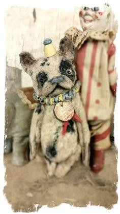 "Image of TiNY 5"" Circus French Bulldog  - By Whendi's Bears"