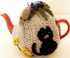 Hand knitted cat and mouse tea cosy | Fantastic Supermarket