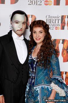 Ramin Karimloo & Sierra Boggess at the Classic BRIT Awards 2012