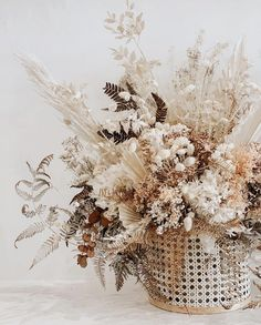 HOORAY! | Top Dried Floral Creations | Wedding Floral Inspiration | Dried Floral Arrangements | Rustic Wedding Florals | Boho Wedding Florals | Muted Wedding Tones | Dreamy Wedding Florals
