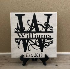 26 Unbelievable Photo Gifts For Dad Photo Gift Card Monogram Signs, Established Sign, Family Name Signs, Housewarming Party, Grandparent Gifts, Kitchen Signs, Baby Nursery Decor, Personalized Wedding Gifts, Grandma Gifts