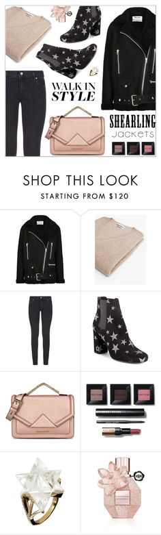 """Star Chelsea boots"" by nastenkakot ❤ liked on Polyvore featuring Acne Studios, MANGO, Paige Denim, Yves Saint Laurent, Karl Lagerfeld, Bobbi Brown Cosmetics and Viktor & Rolf"