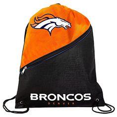 Denver Broncos Official High End Diagonal Zipper Drawstring Backpack Gym Bag ** You can find more details by visiting the image link.