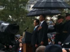 What a momentous picture! President Obama and former South Korean President Lee Myung Bak. 10/13/11
