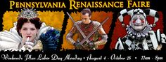 Pennsylvania Renaissance Faire - Weekends August 4 - October 28, 2012 - Manheim, PA