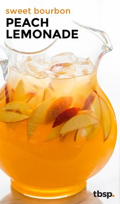 With sweet peach nectar, the caramel kiss of bourbon and tart lemonade, this party-perfect drink puts the taste of summer in every ice-cold glass. Made in a pitcher, it's the perfect group cocktail.